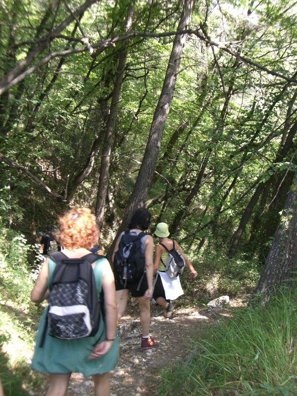 Nous empruntons la piste de la Gabeyrée pour 2 heures de marche sur 3km.