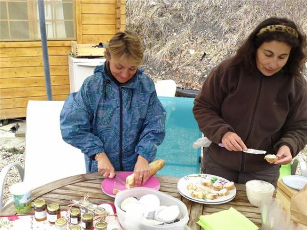 Ooeufs brouillés à la truffe en apéritif