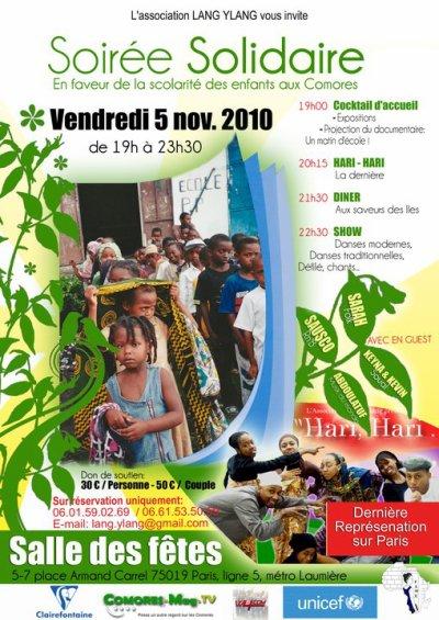 Sausco sera en guest le Vendredi 5 Novembre 2010 de 19h à 23h30 à la salle des fêtes Paris 19ème