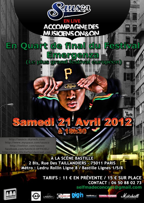 SAUSCO en concert le 21 Avril 2012 à la scène Bastille (Paris)