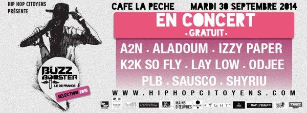 En concert le Mardi 30 septembre 2014 au Café la Pêche