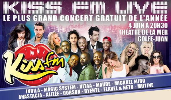 Kiss fm live | 4 juin 2014 | Cannes