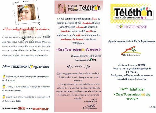~TELETHON 03 ET 04 décembre 2010 ~