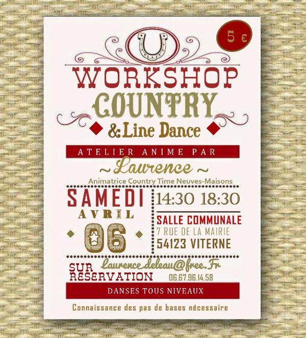 petit rappel : WORKSHOP LE 06/04/2013