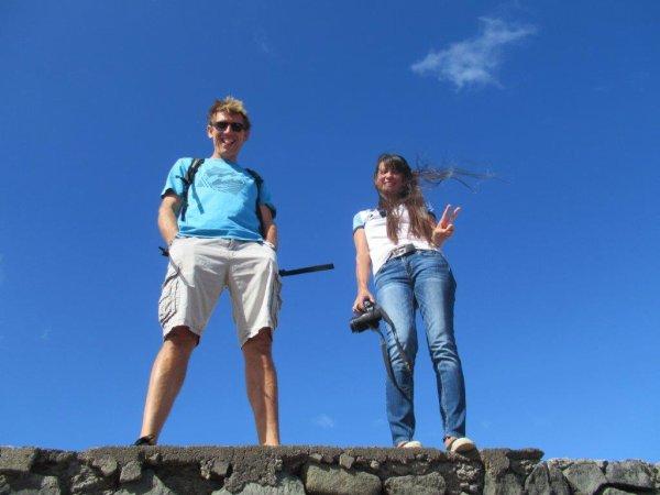 10ème tour de l'ile : Images et gens heureux