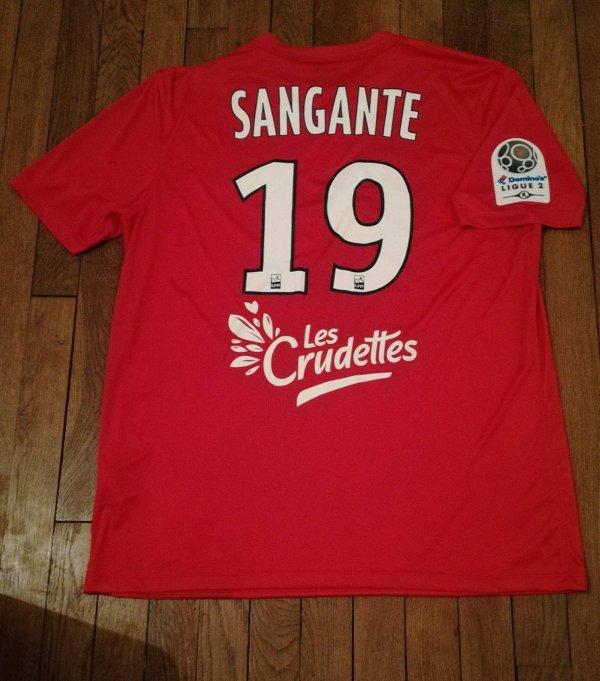 243 ième maillot porté par Opa SANGANTE face à Clermont-Ferrand