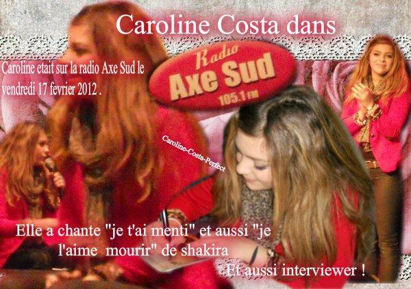 Caroline Costa sur le plateau d'Axe Sud Radio !