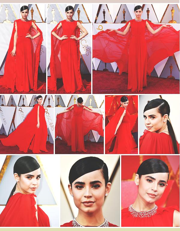 . ''04.03.18'-  ▬ Sofia était présente à l'événement The 90th Annual Academy Awards qui avait lieu à Los Angeles (CA). Notre belle brune sort le grand jeu pour l'événement. Je suis raide dingue de son look, il n'y a rien à dire une fois de plus. .
