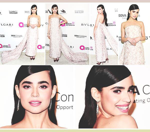 . ''04.03.18'-  ▬ Sofia était présente au 26th annual Elton John AIDS Foundation Academy Awards Viewing Party à W-H. Seconde sortie pour Sofia, je la trouve vraiment resplendissante. Je n'adhère pas à sa traine mais le reste est parfait. .