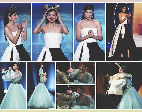 . ''06.10.18'-  ▬ Sofia Carson présentait l'émission Mickey's 90th Spectacular Filming qui sera diffusée le 4 novembre 2018. Quelques clichés sont apparus sur le net nous dévoilant les superbes tenues de Sofia lors de la soirée, j'adore ! Des tops. .