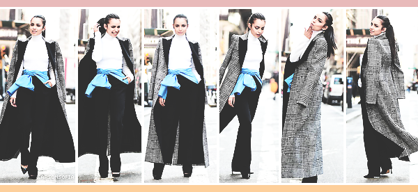 . ''20.03.19'-  ▬ Notre magnifique Sofia Carson a été photographié par les paparazzis dans les célèbres rues de New York Elle s'y trouvait pour continuer la promotion de sa nouvelle série Pretty Little Liars: The Perfectionists. Un superbe top ! .
