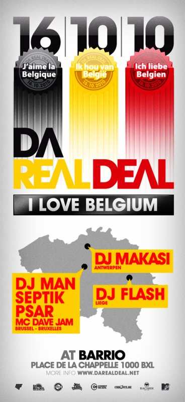 CE 16/10 DA REAL DEAL - I LOVE BELGIUM