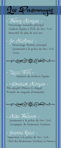 Sommaire + Personnages