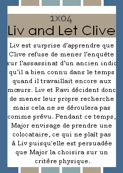 Episode 1x04 ~ Liv And Let Clive