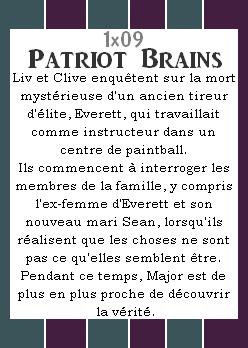 Episode 1x09 ~ Patriot Brains