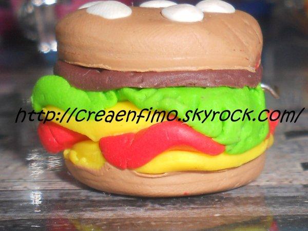 "Pendentif ""Hamburger"""