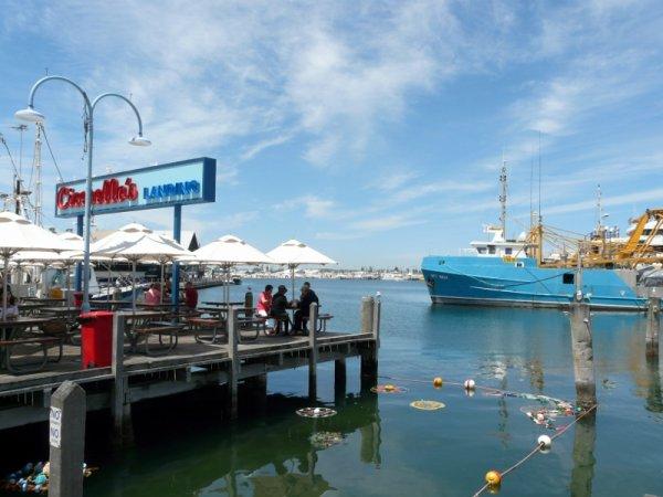 dernier jour: Freementle, the harbour of Perth
