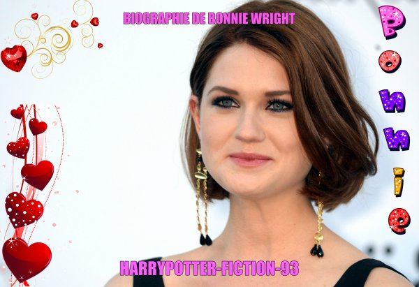 Biographie de Bonnie Wright