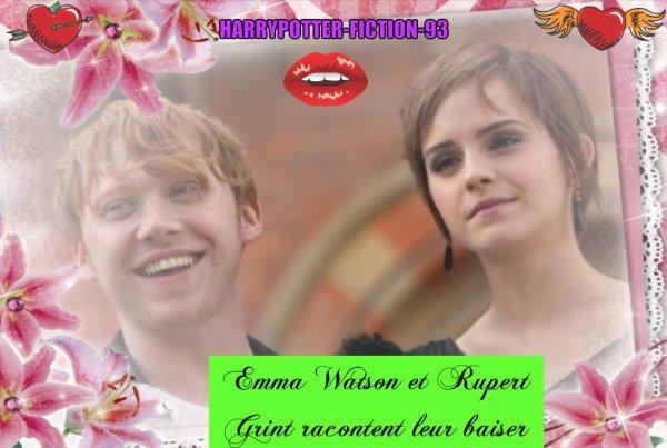 Emma Watson et Rupert Grint racontent leur baiser