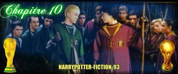 Chapitre 10:  Un supect à Poudlard et Ron et Hermione blesser.