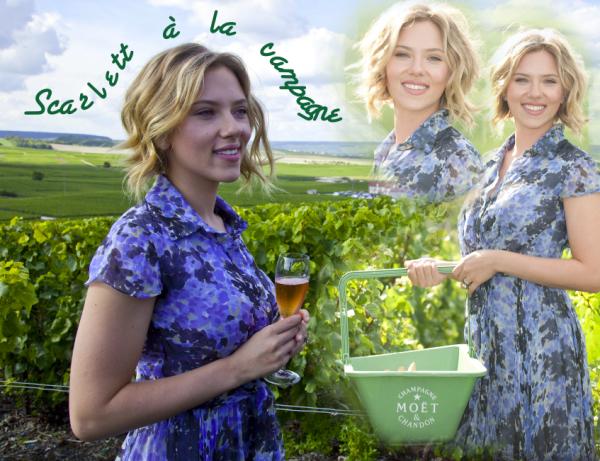 Scarlett adore le champagne !