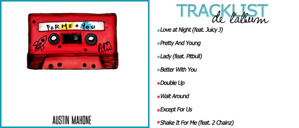 _  ● ●  Découvrez le nouvel album d'Austin Mahone , sorti le 30 Décembre 2016 et comportant 8 titres, vos avis ? _