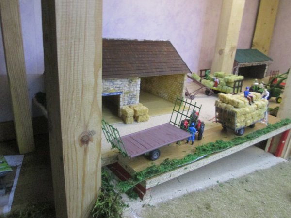 vue d'ensemble à la grange