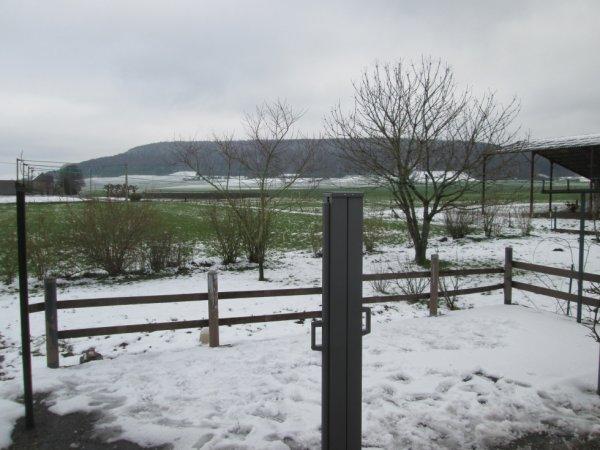 la neige ce matin chez moi