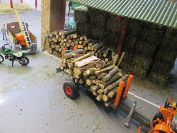 remorque pour débarder le bois