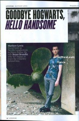 """Matthew Lewis """"Attitude Magazine"""""""