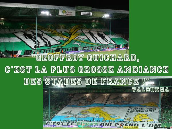 """geoffroy Guichard...Bocanegra: """" C'est magnifique Geoffroy-Guichard. One of the top, one of the best"""""""