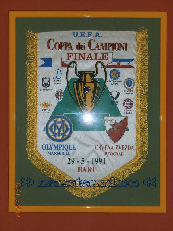 1 - finale KES Crvena Zvezda - Olympique Marseille, Bari 1991...