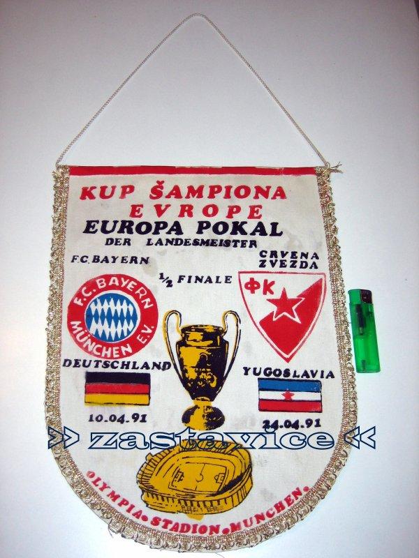 2 - velika zastavica Bayern M. - Crvena Zvezda 1991