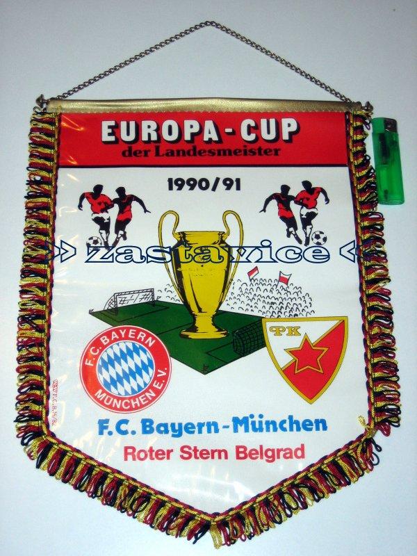 164 - velika zastavica Bayern M. - Crvena Zvezda 1991