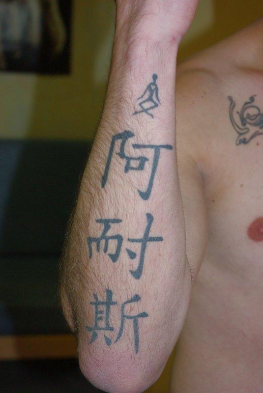 tatouage avant bras prenom chinois. Black Bedroom Furniture Sets. Home Design Ideas