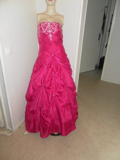 Robe de soiree rose bonbon