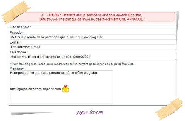 Blog star *-*