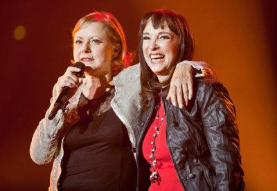Dorothée et Ariane à Bercy le 18 décembre 2010