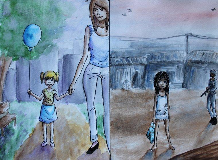 2 jeunes filles différentes