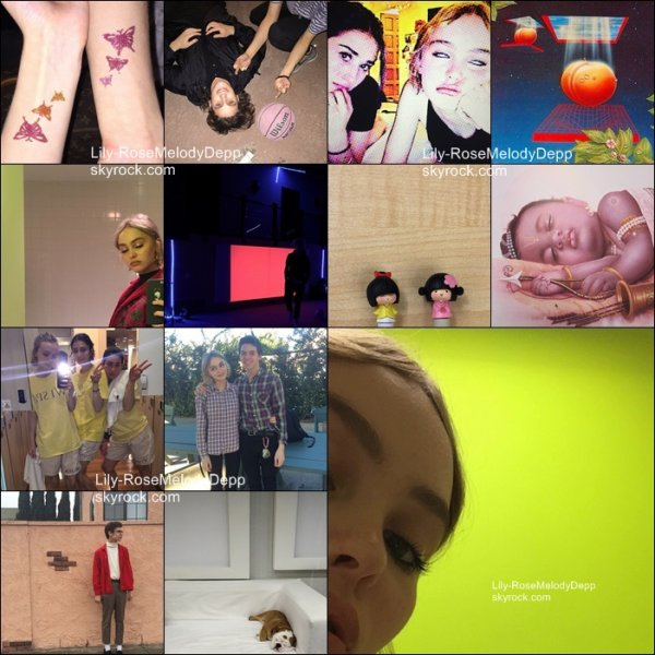 -  Date inconnue : Lily-Rose était sur le set de Yoga Hosers; + photos personnelles.  -