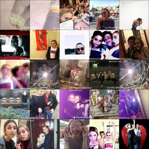 -  20/02/2015 : Lily-Rose était sur la terrasse d'un café avec des amies, à Beverly Hills.  La tenue est simple mais jolie. Lily a pris les paparazzis en photo ! + photos personnelles.  -