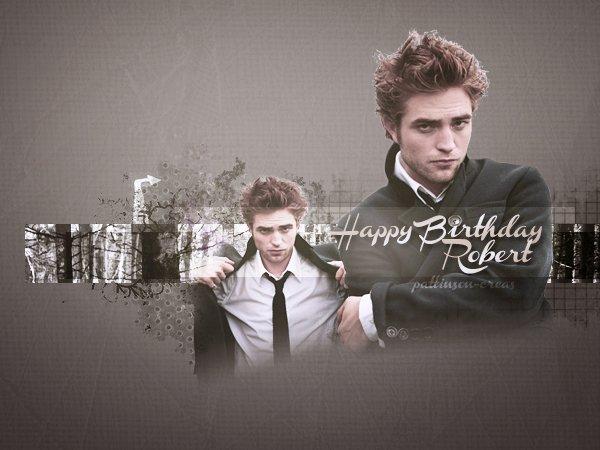 Les webmiss du blog Pattinson-creas étant à Londres de demain matin à mercredi soir, nous souhaitons donc un Joyeux Anniversaire à Rob! Que sa carrière continue aussi positivement qu'elle l'est déjà! Qu'il continue de nous faire rêver à travers tout ses rôles et sa personnalité. Donc encore une fois JOYEUX ANNIVERSAIRE