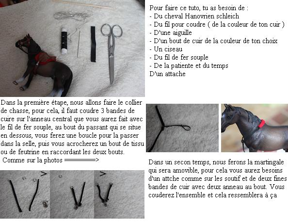 Tuto 5 : Comment faire un collier de chasse / martingale Schleich ?