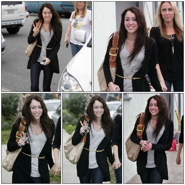 Miley Cyrus leaving a Recording studio - February 29, 2008