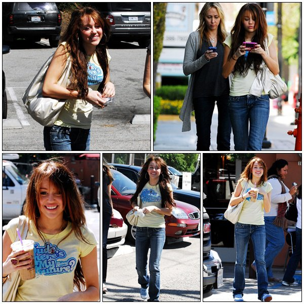 Out for getting some Coffee Bean with her mom - March 27, 2008