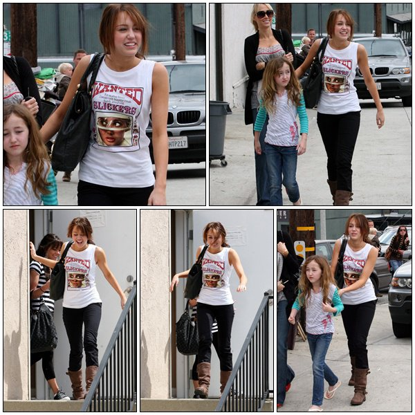 Miley Cyrus in Hollywood - March 30, 2008