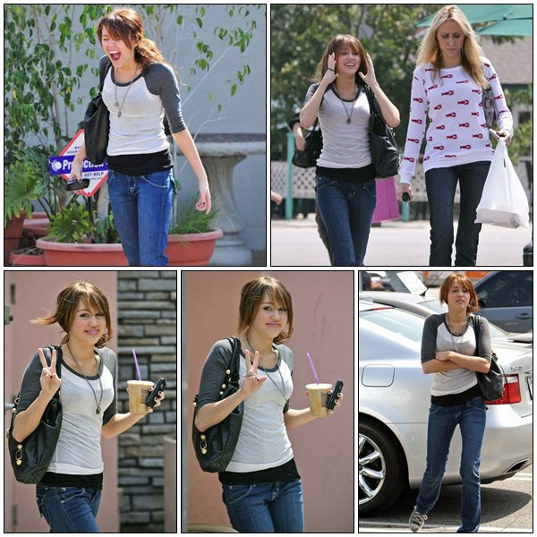 In jeans outside studio in LA - April 1, 2008