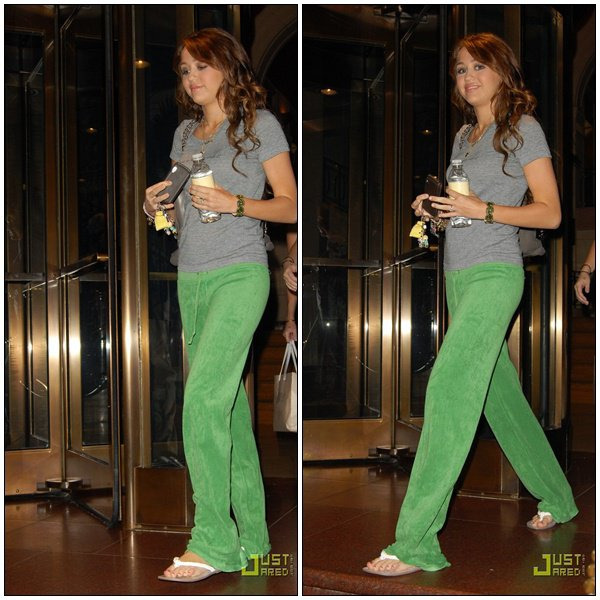 Outside her hotel in New York City - July 25, 2008