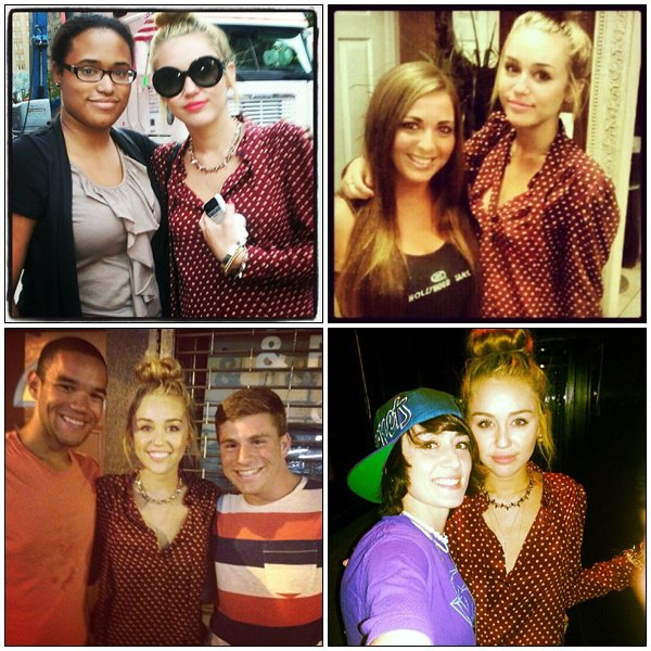 New pictures of Miley with Fans