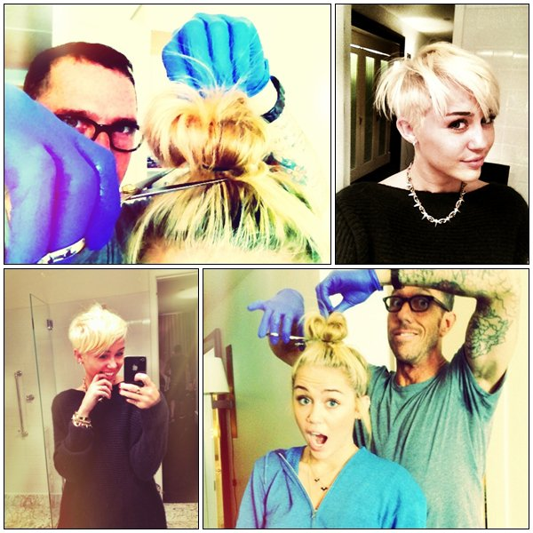 Goodbye Miley's Bun! Miley got a new hair cut!